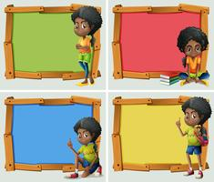 Frame design with African American girl vector