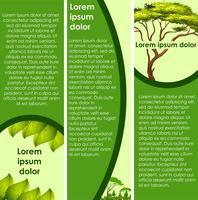 Progettazione infografica con albero verde
