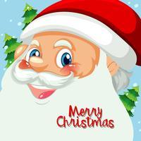 Happy santa face template