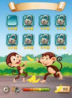 Plantilla de juego mono feliz