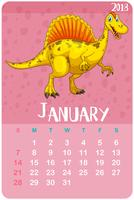 Calendar template for January 2018