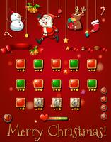 Game template with christmast objects vector
