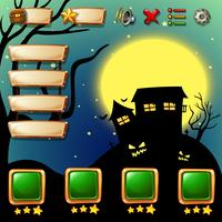 Game template with halloween background