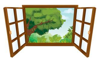 la fenêtre vecteur