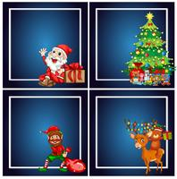 Set of christmas frame
