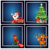 Set von Weihnachtsrahmen