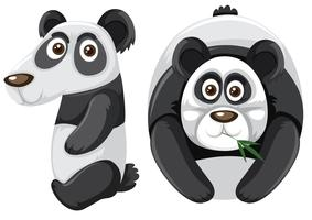 Number ten with panda character