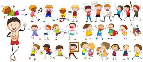 Personajes de personas realizando diferentes actividades.