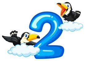 Två toucan och nummer två