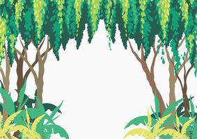 Background design with trees in forest vector