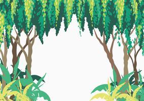 Hintergrunddesign mit Bäumen im Wald