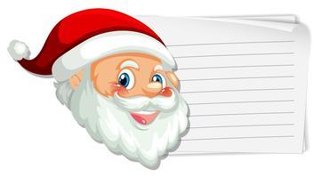Santa en la nota en blanco