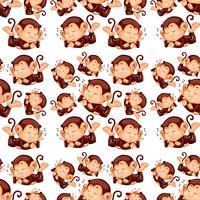 Monkey sleeping seamless pattern