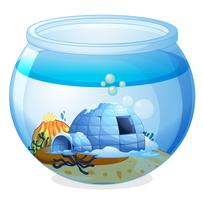 A cave inside the aquarium vector