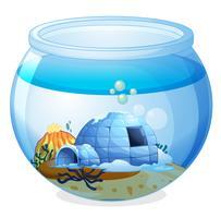 Una cueva dentro del acuario.