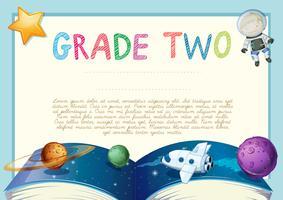 Zertifizierungsvorlage mit Space-Thema