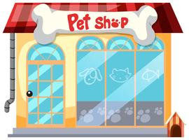 A pet shop on white background