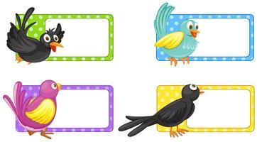 Etikettengestaltung mit Wildvögeln