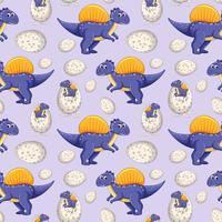 Een dinosaurus naadloos patroon