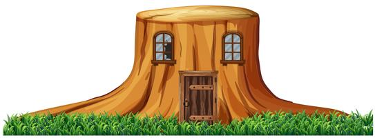 Home in stump tree