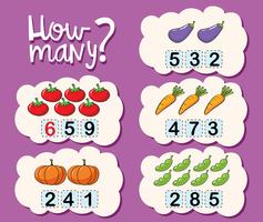 Worksheet template for counting how many