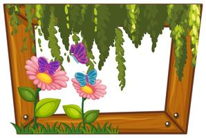 A Beautiful Flower Wooden Frame
