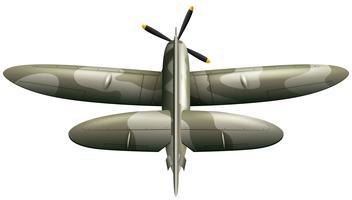 Militär flygplan på vit bakgrund