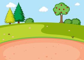 Um parque natural plano vetor