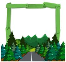 A forest wooden frame
