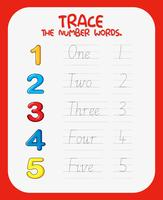 Math number tracing worksheets