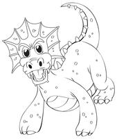 Doodles dessinant animal pour dragon