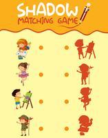 Children activity shadow matching game vector