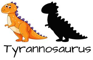 Diseño de dinosaurio tiranosaurio.