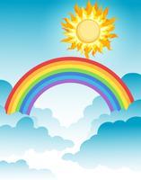 En vacker regnbåge över himlen