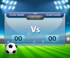 En fotbollsspelsskattmall