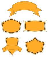 Empty orange templates