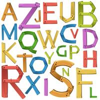Font design of english alphabet