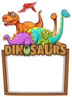 Banner template with lots of dinosaurs
