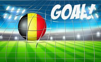 Concetto di obiettivo di pallone da calcio Belgio