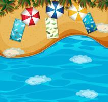 Vista aérea da praia de verão
