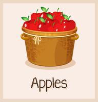 Uma cesta de maçã vetor