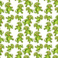 Modèle sans couture de dinosaure vert