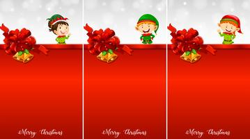 Three background template with christmas eleves