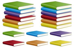Set of different book colour