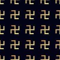 Swastika seamless pattern. Rotating cross