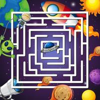 A space maze game
