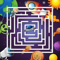 Un juego de laberinto espacial.