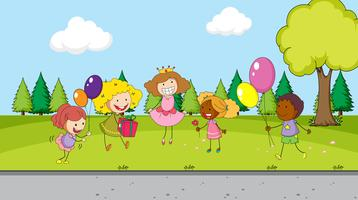 Celebrazione dei bambini nel parco