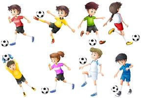 A set of football players