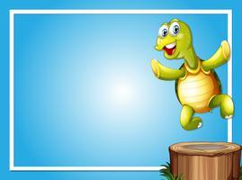 Modelo de fronteira com tartaruga bonito